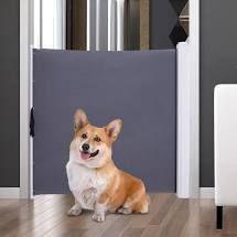 PawHut Retractable Pet Saftey Barrier Gate