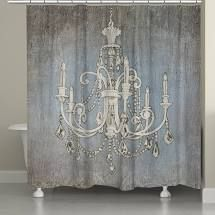laural Home Chandelier lights Shower Curtian
