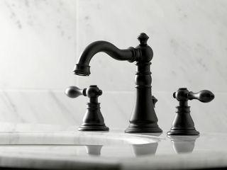 Matte Black  American Classic Widespread Bathroom Faucet  Retail 179 49
