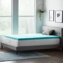 lucid Comfort Collection 3 Inch Gel Memory Foam Topper   Blue   Retail 89 00