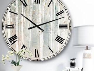 The Gray Barn Jartop  A Woodland Walk into the Forest III  Farmhouse Oversized Metal Clock  Retail 148 99