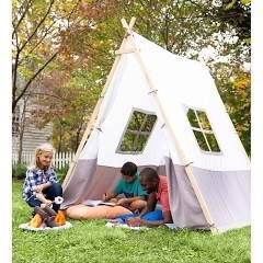 HearthSong Wooden A Frame Tent   Brown