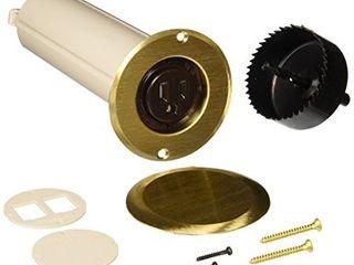RACO 6RF151SR Floor Box Kit Round Drop In 15A Brass