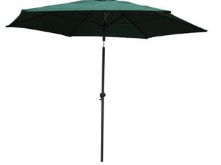 International Caravan St  Kitts 8 foot All Weather Crank and Tilt Patio Umbrella