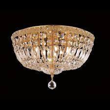 Elegant lighting 6 light Gold Crystal Cl