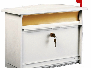 Gibraltar Mailboxes Mailsafe Wall Mount Mailbox White
