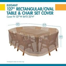 Duck Covers Ultimate Rectangle Patio Table with Chairs Cover  Retail 81 99