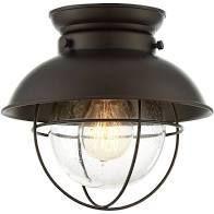 Carbon loft Melville 1 light Flush Mount Ceiling light with Oil Rubbed Bronze