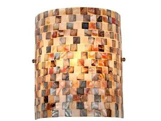 Chloe lighting CH3CD28BC08 WS1 Shelley Mosaic 1 light Wall Sconce with 8 3 Inch Width
