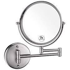 7x Magnifying Wall Mount Makeup Mirror 8