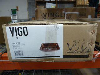VIGO Glass Vessel Sink Model  VG07089