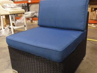 Outdoor Chair with Blue Cushions