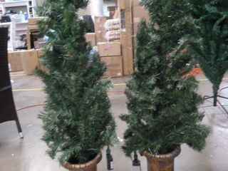 PAIR of 3 5ft Tall Christmas Tree Decoration