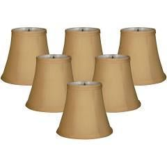 Royal Designs Gold Fabric Chandelier lam