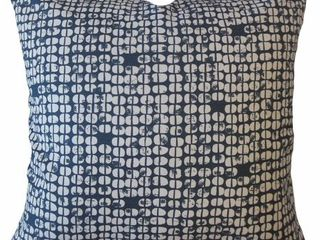 Square   22 x 22   Patterned  Aceline Geometric Throw Pillow Navy