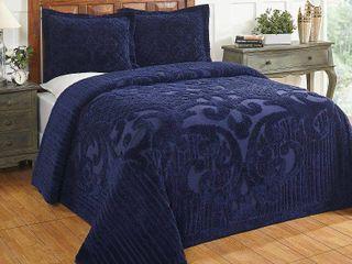 Ashton Queen Bedspread Bedding  Navy