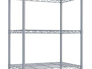 Home Basics 3 layer Wire Shelf  Grey