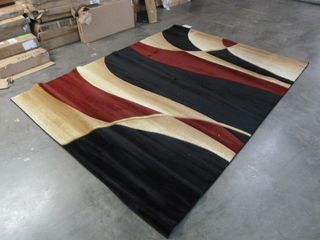 8ft x 10ft Contemporary Style Area Rug has a six inch snag in the middle of it