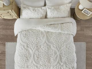 Kennesaw 3 piece tufted cotton Chenille damask