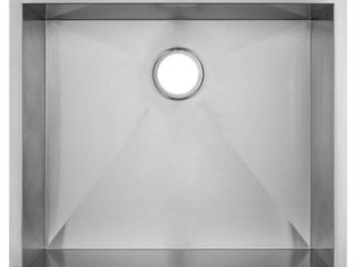 Golden Vantage Handmade Undermount Stainless Steel 25 in  x 22 in  x 9 in  Single Bowl Kitchen Sink in Brushed Finish  Brushed Stainless Steel