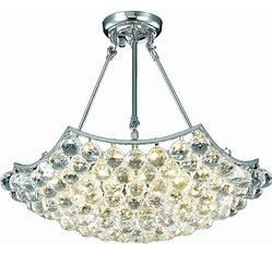 Fleur Illumination 6 light Chrome Chandelier  Retail 606 00