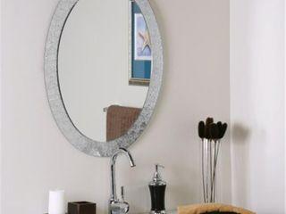 Frameless Designer Wall Mirror   Silver   A N  Retail 138 99