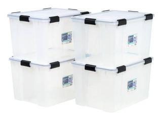 Weathertight Plastic Storage Bin  Pack of 4  Retail 106 99