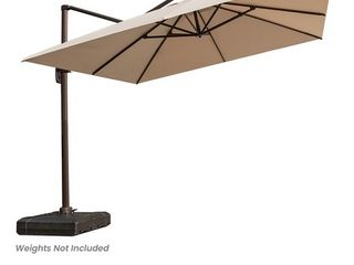 10  Cantilever Offset Umbrella with Crank and Cross Base  Retail 443 99