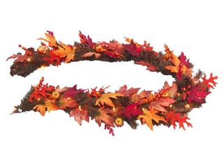 6 ft  Maple Garland with Clear lights