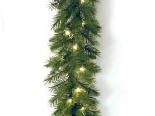 9 ft  Winchester Pine Garland with Clear lights