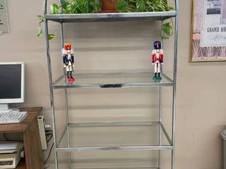 Glass Arched Retail Display Shelves