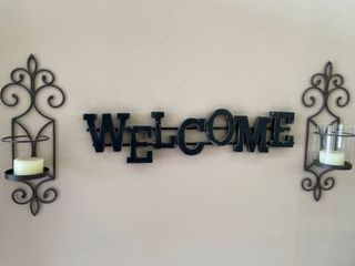 Welcome Wall Art   Sconces