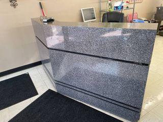 VEECO Granite Patterned Reception Desk  Matches Salon Styling Stations