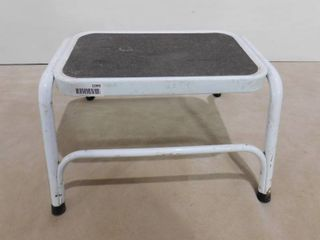 White step stool 17 1 2 in l X 17 in W X 12 in H