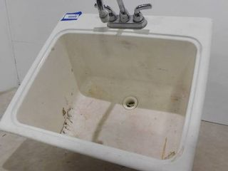 Deep utility sink 13 in deep X 25 in l