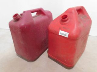 2 five gallon gas cans