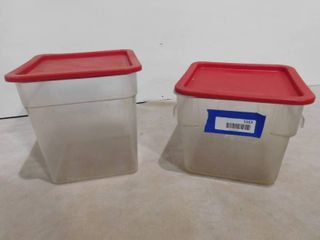2 Carlisle 6 8 qt containers with lids