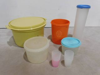 lot of assorted Tupperware containers