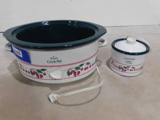large Crock Pot without lid and smaller little dipper Crock Pot