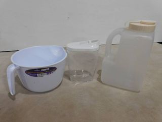 Batter bowl  Rubbermaid liquid container and small container