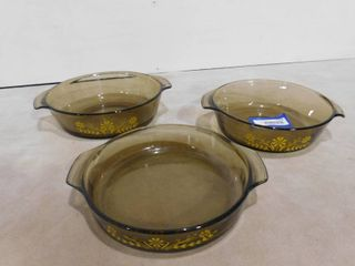 Set of 3 matching baking dishes with no lids