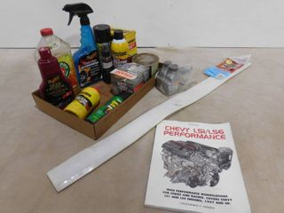lot of assorted automotive cleaner supplies