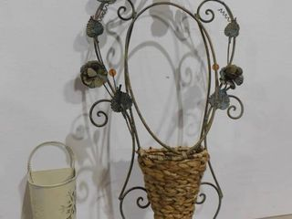 Decorative wall faux flower holder and snowflake hanging wall decor