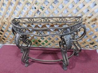 Metal entrance table with no glass topper 30 in H X 16 in W