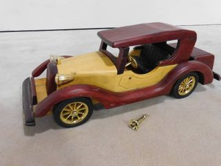 Vintage wooden car with plastic accessories