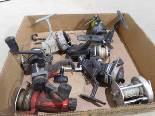 7 various fishing reels