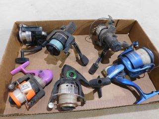 6 various fishing reels