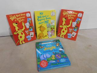 2 Big red book of beginner books  1 My big beginner book for me and one wipe clean play book
