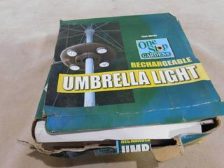 One stop gardens rechargeable umbrella light