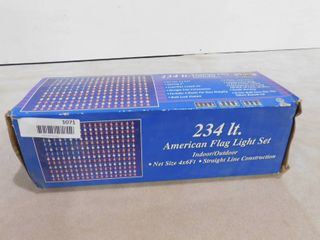 American flag light set indoor outdoor  234 lights